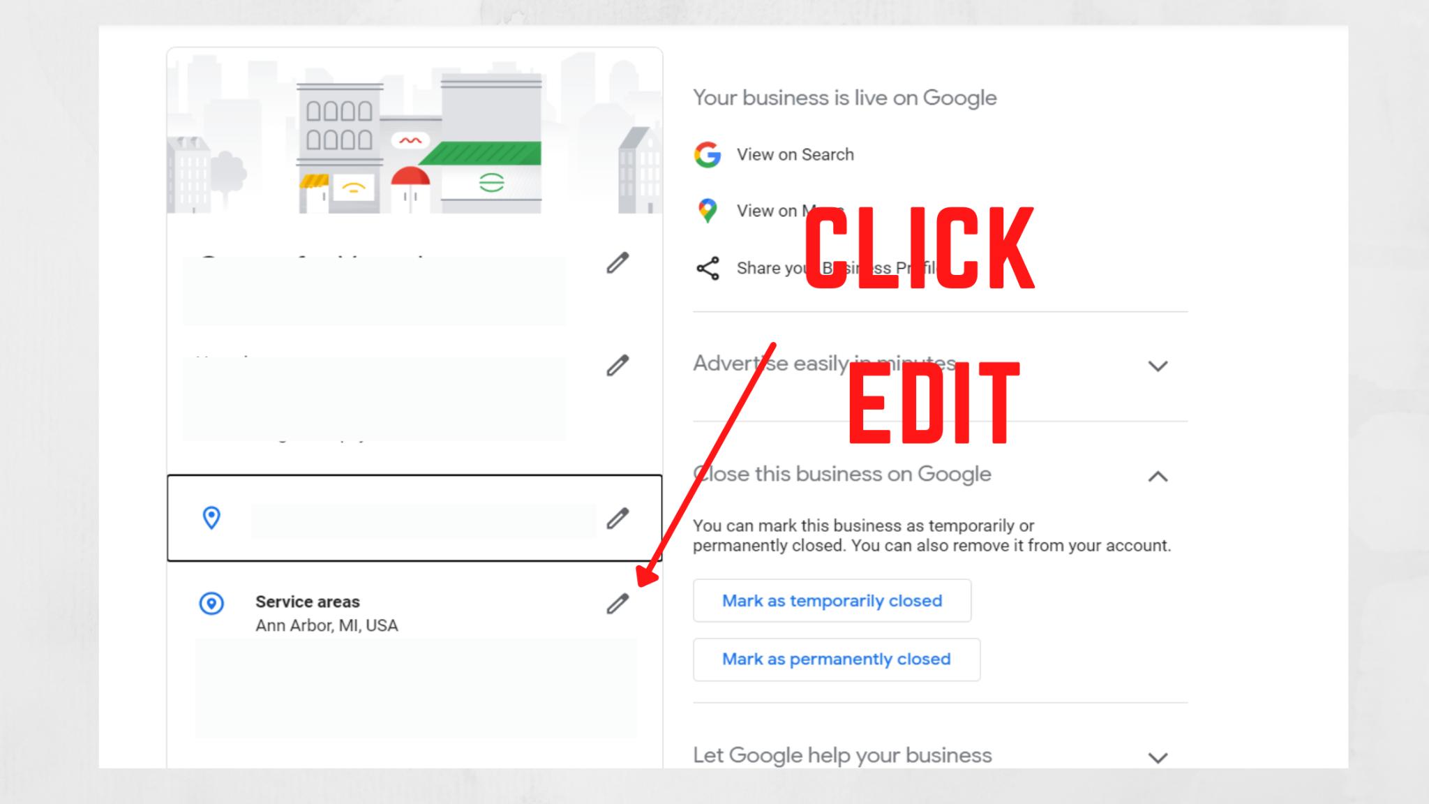 Google My Business Service Area Editor