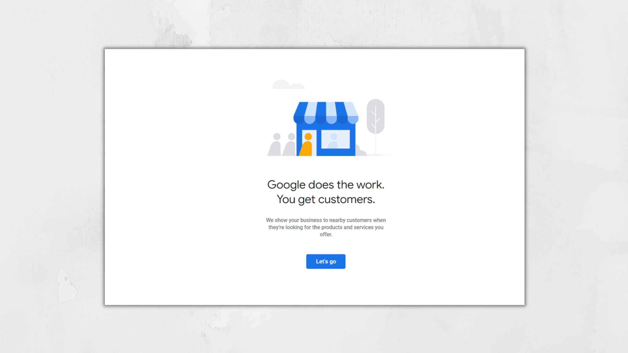 lets go button for adwords in gmb dashboard